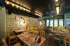 50 - 50 (Greece), Europe restaurant / Tectus design www.restaurantandbardesignawards.com  The light bar on top