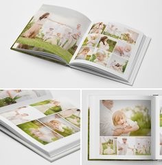 The Interchangeable Book Album for Photographers #photoshop #templates #book #album #newborn #family #baby #photography