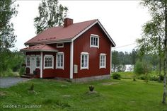 Little red Swedish summer cottage