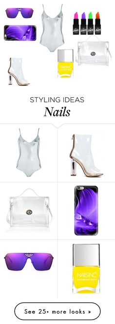 """""""swimsuit"""" by macide on Polyvore featuring Topshop, WithChic, Nails Inc. and Casetify"""