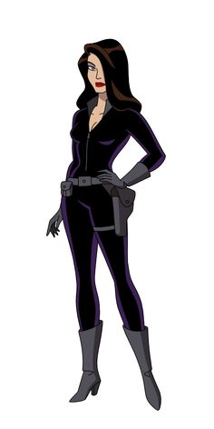 "Talia Al Ghul based on Batman TAS episode ""Off Balance"" 1 by SpiedyFan.deviantart.com on @DeviantArt"