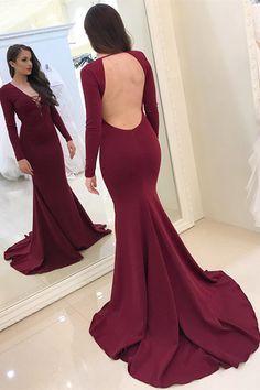 elegant burgundy mermaid prom dresses 07d4acf00d2a