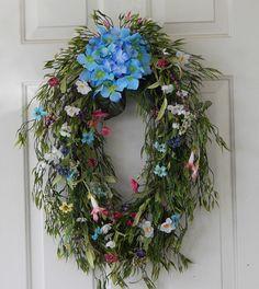 Spring Wreath  Summer Wreath Hydrangea by PataylaFloralDesigns