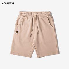 Aolamegs Men Casual Shorts Hip Hop Fashion Sweatpants Comfortable Elastic Waist Short Pants Holiday Street Style Beach Shorts