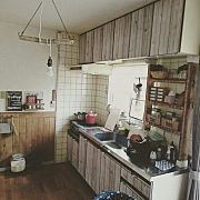Kitchen,DIY,セリア,板壁,Russell Hobbs,賃貸に関連する他の写真