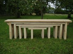 Nesting benches, post-and-beam architecture.