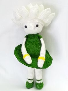 Crocheted Flower Doll Water Lily Winnie/Flower by Handmadebyvaly