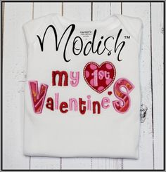 My First Valentine's Day Custom Personalized Applique by SoModish.