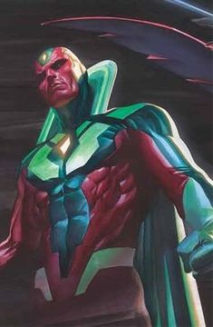 All-New All-Different Avengers SIGNED Exclusive-With an iconic cover by Alex Ross the Vision stands tall on as civil war rages in the marvel universe for a second time. Marvel Dc Comics, Vision Marvel Comics, Marvel Heroes, Marvel Avengers, Comic Book Artists, Comic Books Art, Comic Art, Steve Rogers, Avengers 2015