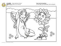 #Ausmalbild Shaya und die Pusteblume #ausmalbilder #printable #kids #coloring