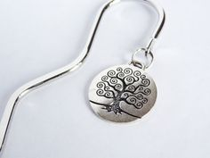 silver beaded bookmark tree of life metal by EclecticBead on Etsy, $12.00