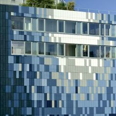 Innovative Swiss-made facade systems- SWISSPEARL cement panels Metal Cladding, Wall Cladding, System Architecture, Architecture Design, Building Facade, Building Design, Chelsea New York, Cement Walls, Inside Outside