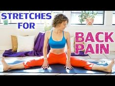Low Back Pain Relief Exercises & Stretches - 20 Minute Easy Beginners Yoga Flexibility Workout - YouTube