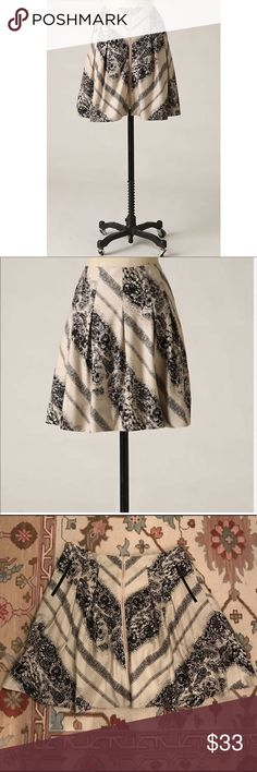 """Anthropologie Illustrated Pathways Skirt Sz 8 EUC 🔹Edme & Esyllte from Anthropologie  🔹""""Illustrated Pathways Skirt"""". High waist.  🔹Size 8  🔹100% Cotton w/ acetate lining   🔹Excellent used condition!  🔹Waist: 15.75"""" across the front, lying flat.   🔹Length: 19"""" from middle top to bottom hem.   ✳️ Bundle to Save 20%!  ❌ No Trades, Holds, PP, Modeling  🎀 100% Authentic!   ⭐️⭐️ Suggested User • 2000+ Sales • Fast Shipper • Best in Gifts Party Host! ⭐️⭐️ Anthropologie Skirts"""