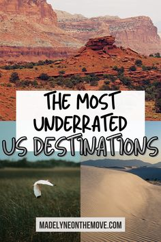 Want to book an epic USA trip but not sure where to travel? Here are 20 of the most underrated travel destinations in the US! These spots are perfect for your 2021 travels. This list is chock full of the best hidden travel destinations in the US! From adventure trips to weekend vacations, East Coast travel to West Coast travel, and even some National Parks too, these are US destinations to visit when you want to beat the crowds! East Coast Usa, East Coast Road Trip, Us Road Trip, West Coast, Best Vacation Destinations, Weekend Vacations, Best Places To Travel, Cool Places To Visit, Usa Travel