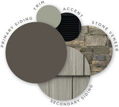 Mastic color palette, midnight mystery, quest vinyl siding, cedar discovery vinyl shingle siding, louvered shutters, designer accents, trim, ridgestone stone veneer, coordinating colors