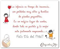 Child Day, Spanish Quotes, Kids Education, Special Day, Baby Shower, Children, Google, Gaston, Montessori
