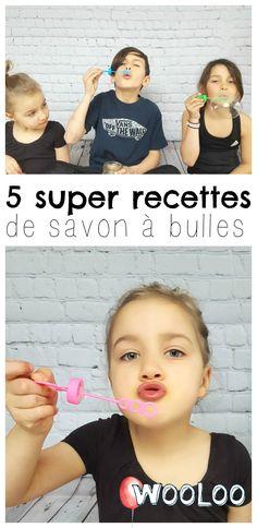 Voici 5 recettes de savon à bulles à fabriquer soi-même pour des heures de plaisir avec les enfants  #bricolage #diy #activité #enfants #kids #bulle #savonàbulles #bubbles