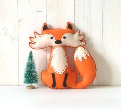 Fox Stuffed Animal PATTERN, Hand Sewing Felt Fox Plushie Pattern, Fox Softie Pattern