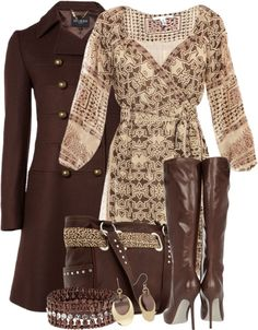 """""""Chocolate Covered Caramel"""" by stylesbyjoey ❤ liked on Polyvore"""