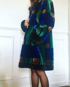 Manteau en fourrure Christian Dior Boutique vintage 70s-80s