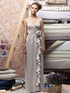 Lele Rose Style LX146: crinkle chiffon, taupe