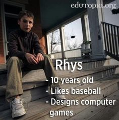 Rhys is 10 years old and designs computer games. That's right -- He makes computer games.