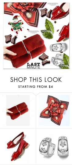 """Last-Minute Holiday Gifts"" by paculi ❤ liked on Polyvore featuring red and holydaygifts"
