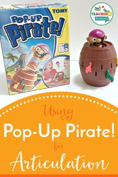 Using Pop Up Pirate for Speech Therapy is so simple that even the littlest kids can join in. It works well as a motivator and for any repetitive drill work. Articulation Activities, Speech Therapy Activities, Language Activities, Speech Therapy Games, Speech Language Pathology, Play Therapy Techniques, Social Skills Activities, Preschool Songs, Therapy Ideas