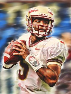 Used to have this hanging in my cube (until I took it home) - Florida State Jameis Winton Seminoles by memoriesrmadehere on Etsy, $19.95