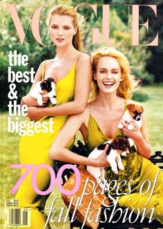 Kate Moss and Amber Valletta for Vogue US September 1996