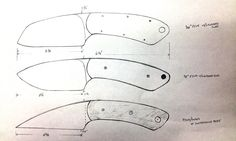 Knife Blade Design Sketches | then cut the designs out from cardboard. I did each one to test not ...
