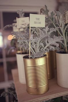 gold painted numbers for wedding tables - Google Search
