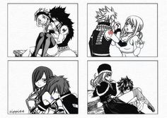 Fairy Tail!! The guys kissing their ladies Guild mark!!