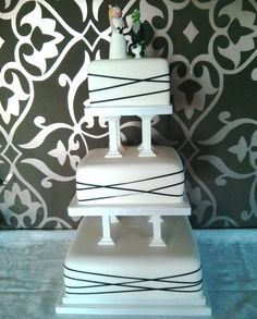 For the wedding cake, the base layer is fruit, middle cake is lemon drizzle, and the top cake is a dummy made as a keepsake with the topper on. The couple are great Newcastle United fans, so it had to be a white cake with black details. And the Miss Piggy cake topper has a black & white bouquet, with Kermit sat on a football and with a black and white waistcoat. It looked great when I set it up at the Wooden Doll in North Shields, and the icing on the cake ? The Toon won