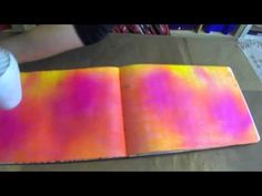 """""""Ghosting"""" technique using Dylusions Ink Sprays. Ranger Dylusions Ghosting - YouTube - By: Ranger Ink"""