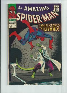 AMAZING SPIDER-MAN #44 Second appearance of The Lizard! Cool Silver Age find!! http://r.ebay.com/DK7IZ0
