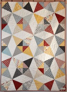 Hometown Kaleidoscope Baby Quilt, by Miadolceoriginale
