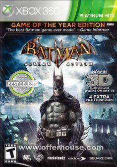 batman arkham asylum game cover  | Batman: Arkham Asylum - Game of the Year Edition (Platinum Hits) - U.S ...