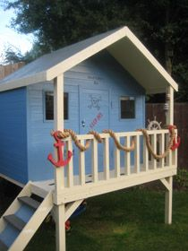 Boys Pirate Themed Playhouse on Legs...
