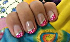 (little blurry) but pink with polka-dots now!(:
