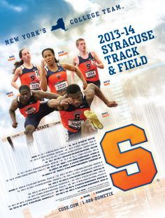 Syracuse Track & Field 2014 poster