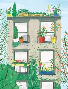 One of my illustrations in volume five of Another Escape. Always enjoy working with these guys! This was for an article about gardening in urban environments.