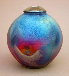 Raku Pottery for Sale | copper raku vase by simon eeles 10 cm tall for sale £ 35
