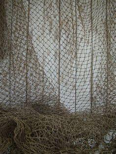 Vieux poissons pêche usagé Net  5 x 5 pi  Vintage par NauticalPlace, $12.99