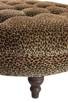 Leopard Print Ottoman On Chairish Animal Furniture Decor