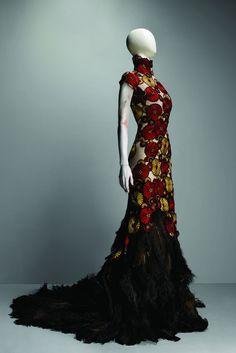 Alexander McQueen SS01 printed gown