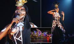 GraceJones, 67, sings topless as part of the Vivid Sydneycelebrations