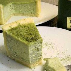 Cheesecake au thé Green Tea Dessert, Cinnamon Tea Cake, Matcha Cake, Pumpkin Cheesecake Recipes, Green Tea Recipes, Baked Pumpkin, Tea Cakes, Yummy Treats, Baking