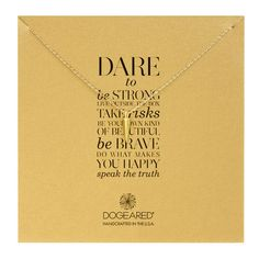#dogeared #sharethehappy dare to… spike necklace, gold dipped, 18 inch